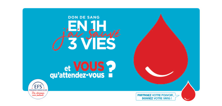 Prochain Don du sang : les 1er et 2 décembre